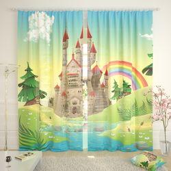 Тюль Замок и радуга