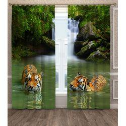 ФотоШторы Тигры в воде
