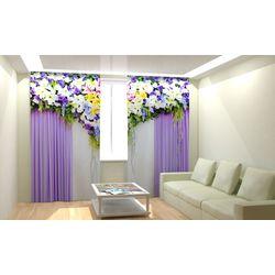 ФотоШторы Великолепный цветочный верх