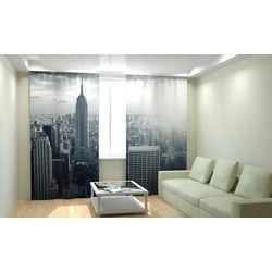 ФотоШторы Нью-Йорк черно-белый