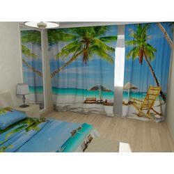 ФотоШторы Пляж и пальмы