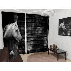 ФотоШторы Белая лошадь