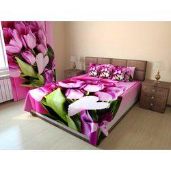 Покрывало стеганое Букет розовых тюльпанов