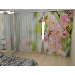 Комплект фото шторы+фото тюль Яблоневый цвет 2