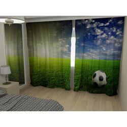 Комплект фото шторы+фото тюль Футбольный мяч