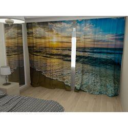 Комплект фото шторы+фото тюль Прибой