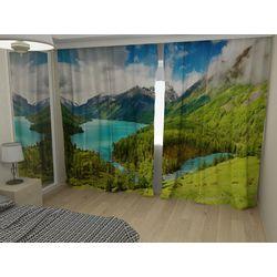 Комплект фото шторы+фото тюль Горный пейзаж