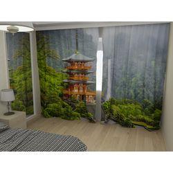 Комплект фото шторы+фото тюль Япония