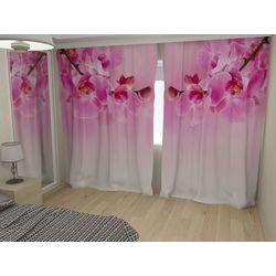Комплект фото шторы+фото тюль Ветки орхидеи