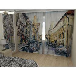 Комплект фото шторы+фото тюль Осенняя живопись