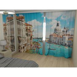 Комплект фото шторы+фото тюль Каналы Венеции