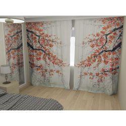 Комплект фото шторы+фото тюль Коралловые цветы