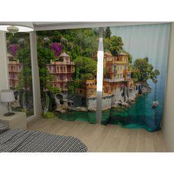 Комплект фото шторы+фото тюль Вилла Портофино