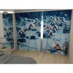 Комплект фото шторы+фото тюль Лесной городок
