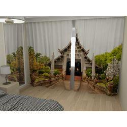 Комплект фото шторы+фото тюль Лаос