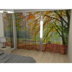 Комплект фото шторы+фото тюль Золотая осень