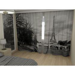 Комплект фото шторы+фото тюль Эйфелева башня