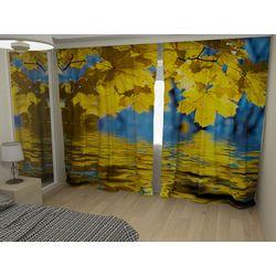 Комплект фото шторы+фото тюль Осенние листья