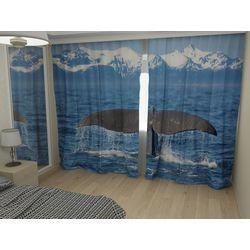 Комплект фото шторы+фото тюль Кит