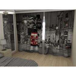 Комплект фото шторы+фото тюль Лондонский автобус (Даблдеккер)