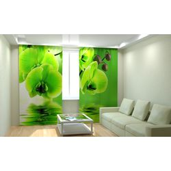ФотоШторы Зеленая орхидея