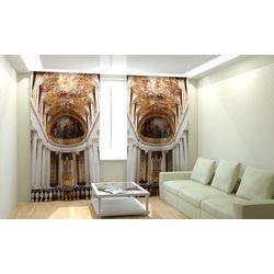 Комплект фото шторы+фото тюль Капелла Версаля