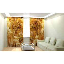 Комплект фото шторы+фото тюль Королевский Зал