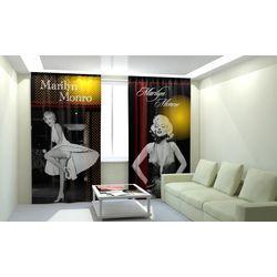 Комплект фото шторы+фото тюль Мерлин Монро
