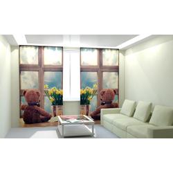 Комплект фото шторы+фото тюль Мишка
