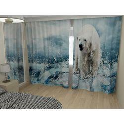 Комплект фото шторы+фото тюль 3837
