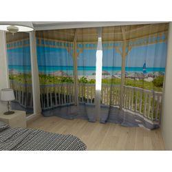 Комплект фото шторы+фото тюль Вид с балкона