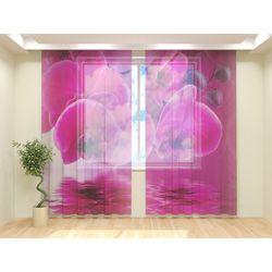 Тюль Розовая орхидея