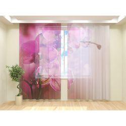 Тюль Розовая орхидея 2