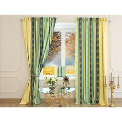 Шторы желто зеленые Карла