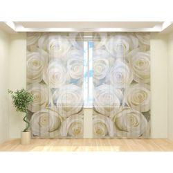 Тюль Белые розы