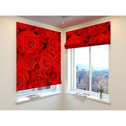 Римская Штора Красные розы