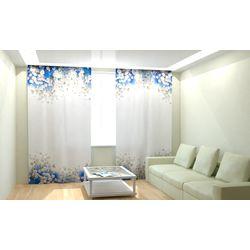 ФотоШторы Бело голубые цветы