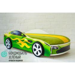 """Детская кровать с подъемным механизмом """"Бондмобиль зеленый"""""""