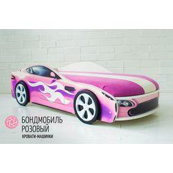 """Детская кровать с подъемным механизмом """"Бондмобиль розовый"""""""