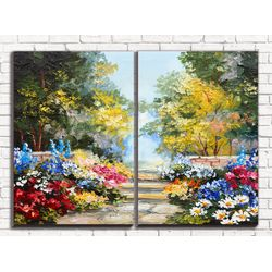 Модульная картина В летнем парке 80х60 см