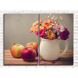 Модульная картина Осенний натюрморт 80х60 см