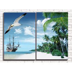 Модульная картина Остров 80х60 см