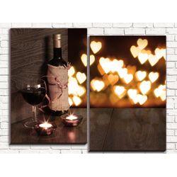 Модульная картина Вино 80х60 см