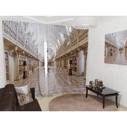 Комплект фото шторы+фото тюль Библиотека