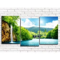 Модульная картина Водопады 120х60 см