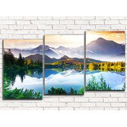 Модульная картина Волшебное озеро в горах 120х60 см
