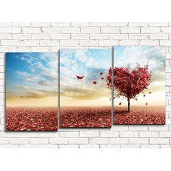 Модульная картина Дерево любви 120х60 см