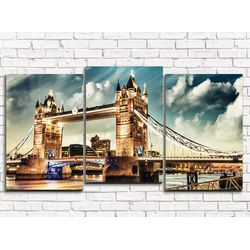 Модульная картина Лондон 120х60 см