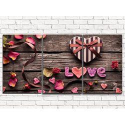 Модульная картина Любовь 120х60 см