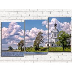 Модульная картина Монастырь 120х60 см
